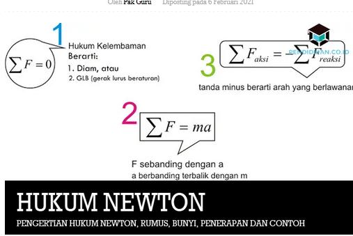 pengertian-hukum-newton